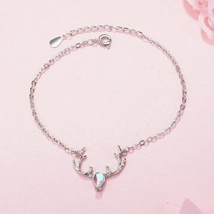 NEW 925 Sterling Silver Elk Deer Bracelet